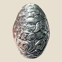 RARE Indonesian Lotus Yogya Sterling Ring Sz 10