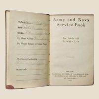 1917, Army and Navy Service Book, 3rd Printing, WW1 Era, Protestant Prayer & Hymn Book