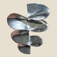 Large Dimensional Sterling Taxco Mexico Modernist Pin TP-97