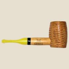 "The Ozarks Meerschaum - Sunday Cob Pipe (Mini Miniature 3 ½"") Straight Yellow Stem, USA, Like New"