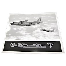 An-12 Cub a Russian Military Transport Aircraft & US Navy F-14 Tomcat 1989 8x10 Excellent Condition