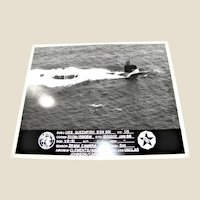 Photograph of USS Queenfish (SSN-651), Sturgeon-Class Attack Submarine, 1988, 8x10 Excellent