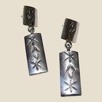 Gertie Ganadonegro Stamped Sterling Earrings