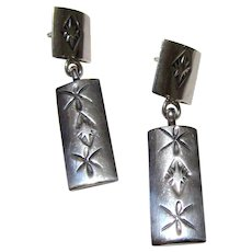 Gertie Ganadonegro Stamped Sterling Earrings