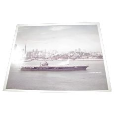 USS Carl Vinson (CVN-70) U.S. Navy Nimitz Class Super Carrier & San Francisco 1980's 8x10 Excellent