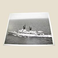 "Photograph of USS Stephen W Groves FFG 29 , USN Navy Photo 1980's 8""x10"", Excellent Condition"