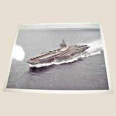 "Photograph of USS Carl Vinson (CVN-70) U.S. Navy Nimitz Class Super Carrier 1980's 8"" x 10"" in Excellent Condition"