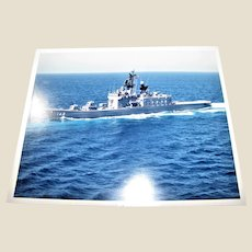 Photograph of Shirane Class Destroyer (DDG-143) Japan MaritimeSelf Defense Force, 1980.s 8x10 Excellent Condition