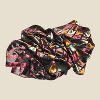 "62"" Jewel Colors Cut Silk Velvet Scarf by Joseph"