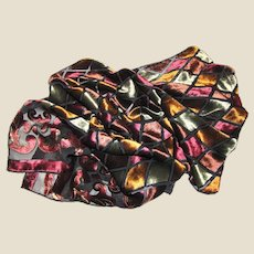 "62"" Jewel Colors Cut Silk Velvet Scarf by Joseph"