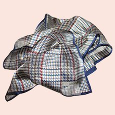 "Elegant 52"" Silk Plaid Check Scarf by Echo"