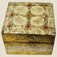 Small Italian Gilt Florentine Ring or Trinket Box