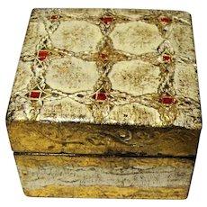 Small Italian Gilt Florentine Ring or Trinket Box