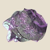 """56"""" Sheer Polyester Gauze Floral Scarf"""