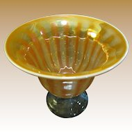 Spectacular Luster Finish Large Art Glass Center Piece Bowl