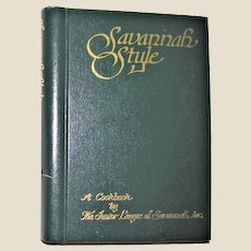 Savannah Style (Cookbook) by Junior League Staff 1980, Hardcover 2nd Printing, VG