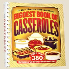 Biggest Book of Casseroles by Better Homes and Gardens, Ring Bound in Nearly New Condition