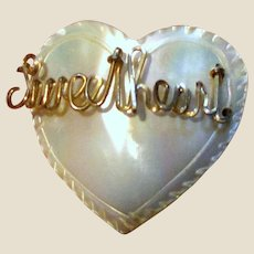 "Carved Mother of Pearl ""Sweetheart"" Pin"