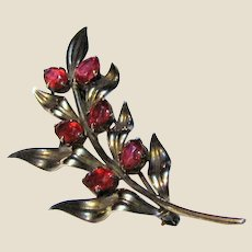 Sterling & 14K Symmetalic Floral Spray Pin