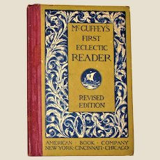 McGuffey's First Eclectic Reader, Revised Edition 1920 Hardcover VG+