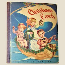 Christmas Carols (A Little Golden Book) 1946 First Edition, Illustrated throughout VG