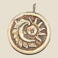 Hand Made Sun & Moon Pendant Charm
