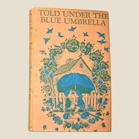 Told Under the Blue Umbrella, Marguerite Davis art, HCDJ, 1954 VG+