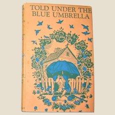 Told Under the Blue Umbrella, Marguerite Davis art, HCDJ, 1954 VG+
