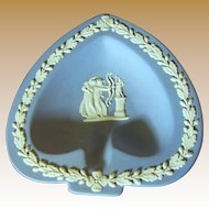 Prettiest Blue Jasper Wedgwood Heart Shaped Trinket Bowl