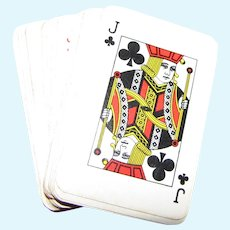 """Miniature 2 1/4"""" Full Deck of Vintage Las Vegas Playing Cards for Doll Display"""