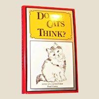 Do Cats Think? by Paul Corey HCDJ 1977 Like New