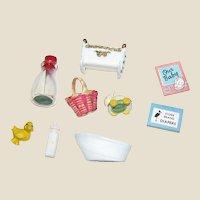 9 Circa 1960's New Old Stock Doll House Nursery Items