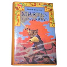 Redwall Series- Martin the Warrior by Brian Jacques, 1994 HCDJ 1st American Edition 1st Printing, Like New