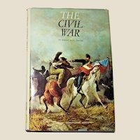 The Civil War by Robert Paul Jordan National Geographic 1969 HCDJ 5th Printing 1982, MAP Included, VG+