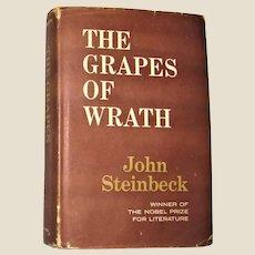 The Grapes Of Wrath By John Steinbeck  HCDJ 1967 Book Club Edition, VG+