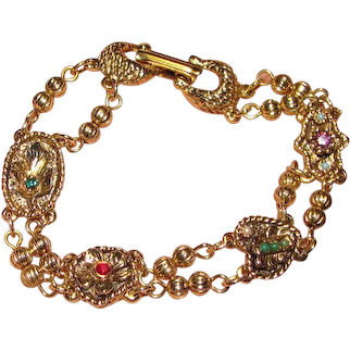 Goldette Charm Chain Bracelet, Pretty!