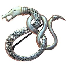Amazing Sterling Writhing Snake Pin