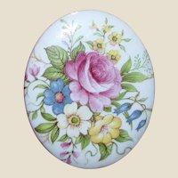 Vintage Ceramic Floral Pin, Japan