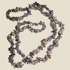 "36"" Tumbled Leopard Jasper Chip Necklace"