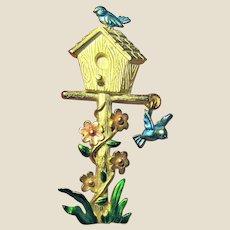 A Whimsical Bird House Themed Pin by JJ Jonette