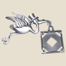 Flying Stork Picture Frame Pin by JJ Jonette