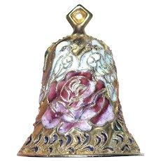 Vintage Chinese Gilt Cloisonne Bell