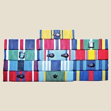 "United States Air Force (USAF) ""Thin"" Ribbon Rack / Bar, Post Vietnam Era, Near Mint"