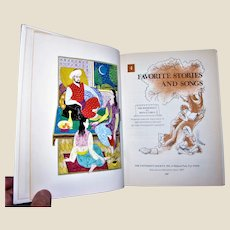 The Bookshelf for Boys and Girls vol. 4: Favorite Stories and Songs by the University Society 1979 Hardcover, VG+