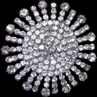 Stunning Vintage Starburst Rhinestone Pin