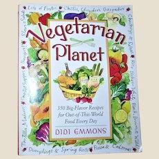 Vegetarian Planet: 350 Big-Flavor Recipes for Out-of-this-World Food by Didi Emmon, Softcover 1997 VG+