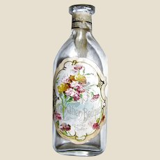 Vintage Carnation Bouquet Toilet Water Dr. J.B. Lynas & Son Perfumers Bottle