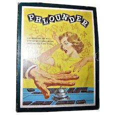 Vintage 1962 Phlounder - Fast Moving Word Game - 3M Bookshelf Game – Complete, Looks Unused