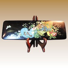 Superb Quality Victorian Oriental Geisha Design Papier Mache Glove Box