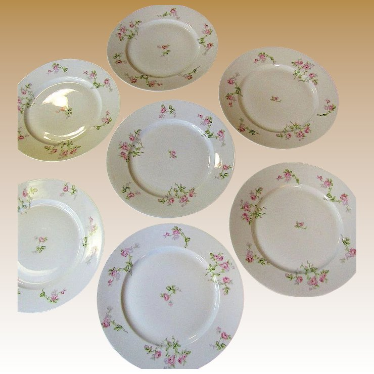 Lovely Set of Seven Redon French Limoges Dinner Plates & Lovely Set of Seven Redon French Limoges Dinner Plates : Fay Wray ...